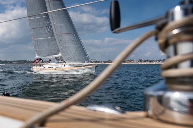 a Faurby Yacht cruising